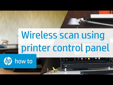 Wireless Scanning Using the HP All-in-One Control Panel