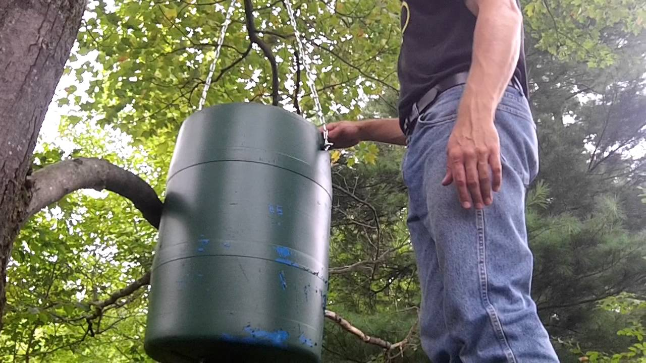 Deer Feeder Automatic Spin Style Upgraded Barrel Youtube