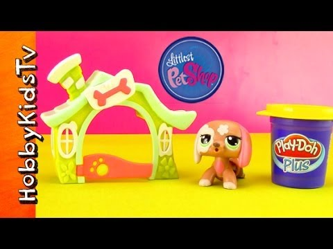 LPS [Littlest Pet Shop] Walkables! PLAY-DOH Bone with Pongo [101 Dalmatians Movie] klip izle