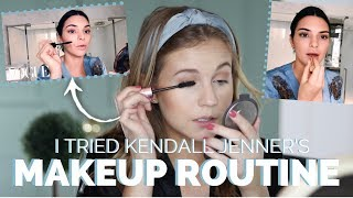 I Tried Following KENDALL JENNER'S Makeup Routine...