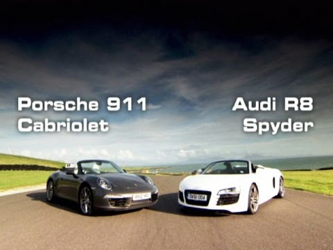 Porsche 911 Cabriolet Vs. Audi R8 Spyder - Fifth Gear