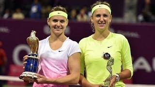 2015 Qatar Total Open Final WTA Highlights   Lucie Safarova vs Victoria Azarenka