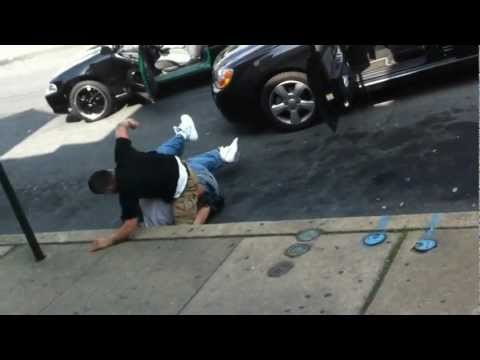 Fight on the street -The best kick after  you lost a fight !!!!