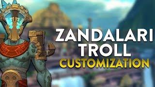 Zandalari Troll Male & Female Customization! In-game Preview | World of Warcraft Battle for Azeroth