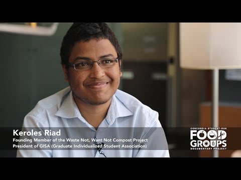 Keroles Riad on how to get involved in the student run food system at Concordia