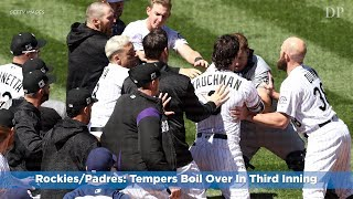 Rockies/Padres: Tempers Boil Over In Third Inning