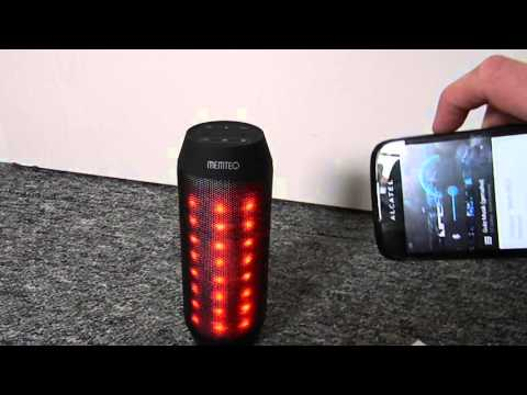 Led Disko Lautsprecher Bluetooth, FM Radio Sd MP3 Player Aux in Review Test Deutsch