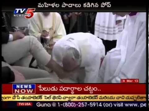 Pope Francis washes and and kisses women's feet in break with church law - TV5