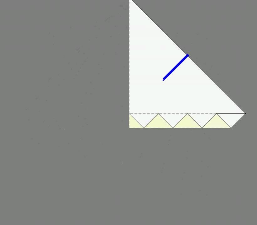 Оригами схема сборки павлин 3
