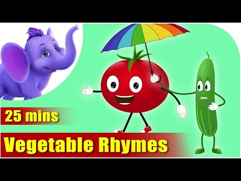 Vegetable Rhymes - Best Collection of Rhymes for Children in English