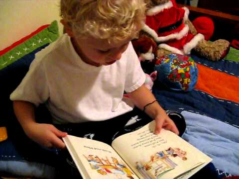 Connor reading Dick and Jane