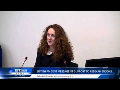 British PM sent message of Support to Rebekah Brooks