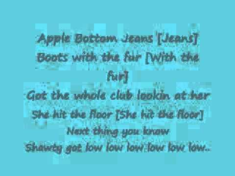 Rider apple bottom jeans lyrics