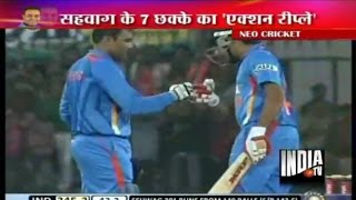 Virender Sehwag Hits Double Century (219) against West Indies - India TV