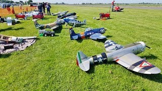 TJD RC DISPLAY TEAM - 5 X WW2 FIGHTERS CLOSE DISPLAY AT LMA RAF TIBENHAM - 2018