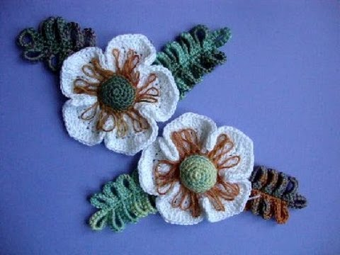 Crochet Flowers Patterns Youtube : ... ??????? ???? 24 Crochet flower pattern - YouTube