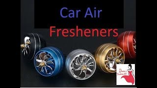 Car Air Freshener, Air Vent Perfume Freshener for Car, Decor LED Fan Fragrance Clip in Air Freshener
