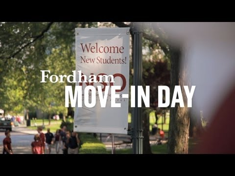 Move In at Fordham | Fall 2012