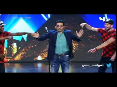 بالفيديو أحمد حلمى يرقص رقصة الدودة فى أراب جوت تالنت