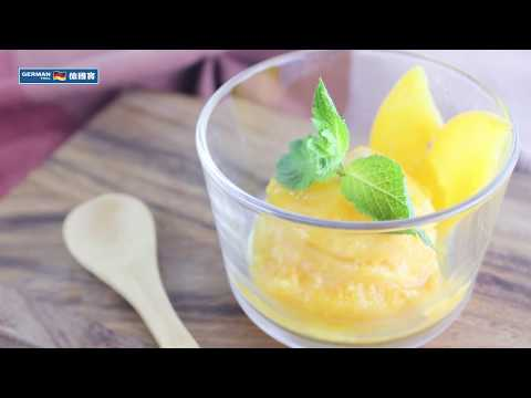Cold Press Juicer Recipe:Peach Sorbet
