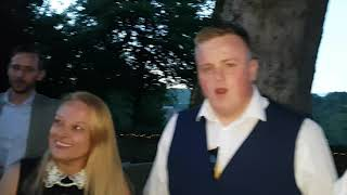 Darren Brand Magician with the bride.