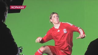Fernando Torres Behind The Scenes Of Trailer For PES 2010