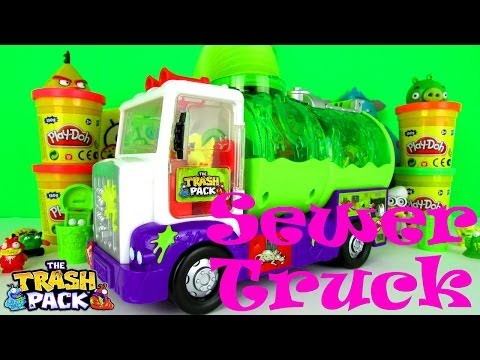 The Trash Pack Toys Sewer Truck Playset Fun Toy Review For Kids & Family + Trashie Mayhem