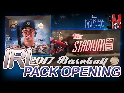 IRL PACK OPENING! TOPPS NATIONAL BASEBALL CARD DAY!