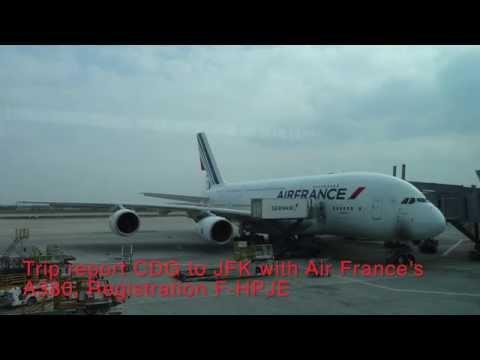 [Full HD] Air France A380 CDG to JFK in Economy FULL FLIGHT