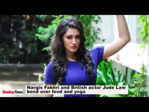 Nargis Fakhri and British actor Jude Law bond over food and yoga - BT