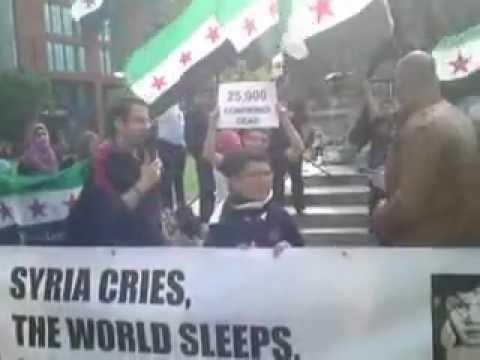 A protest against Al-Assad regime in Manchester 15 September 2012
