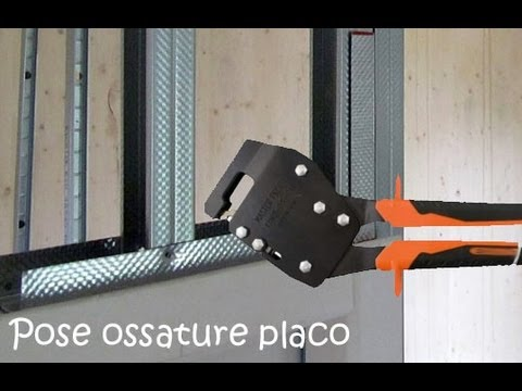 pose placo ossature lay a frame for plasterboard part 1 youtube. Black Bedroom Furniture Sets. Home Design Ideas
