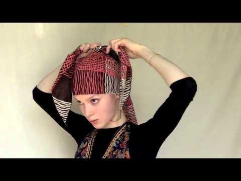 How to Tie a Headscarf How to Tie a Headscarf new foto