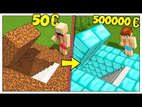 BASE SEGRETA DA 50 EURO CONTRO BASE DA 500000 EURO! - Minecraft ITA