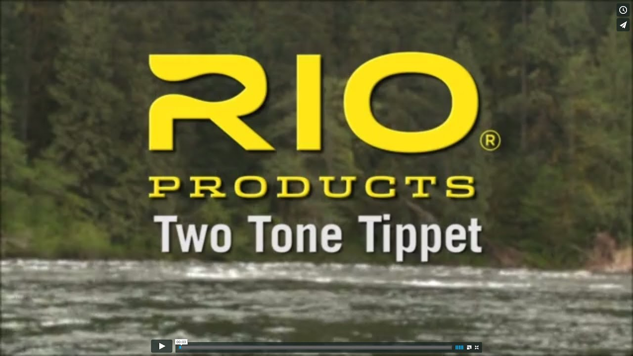 RIO s Two Tone Indicator Tippet   plus how to make the  quot Slinky quot  Indicator