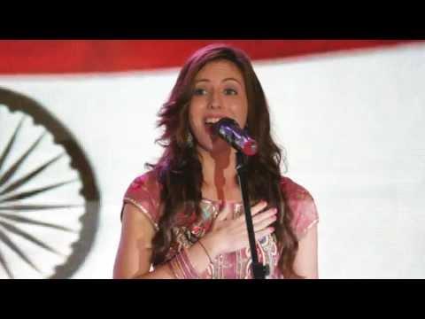 Natalie Di Luccio sings the Indian National Anthem (Jana Gana Mana)