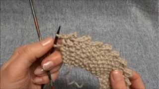 Picot Maschen abketten - Picot Cast off - Stricken lernen - Learn how to knit