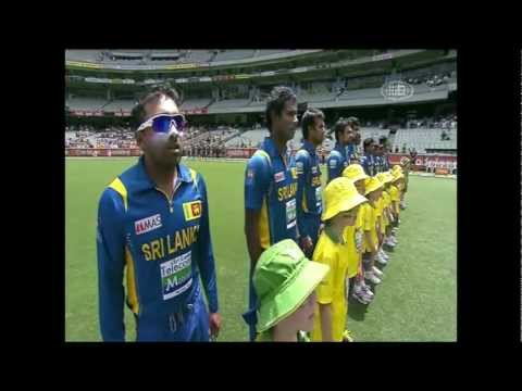 Sri Lankan National Anthem - Kanchana Sandamali  The Mcg video