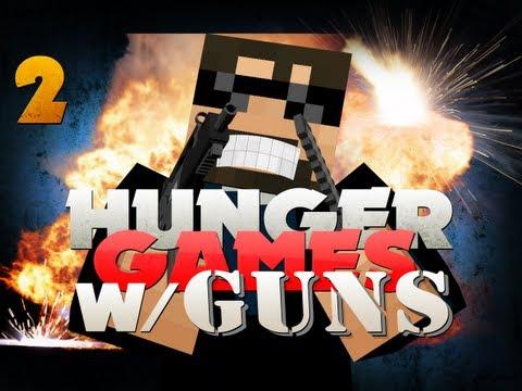 Minecraft Hunger Games with GUNS 2!! HORSE BATTLES!!
