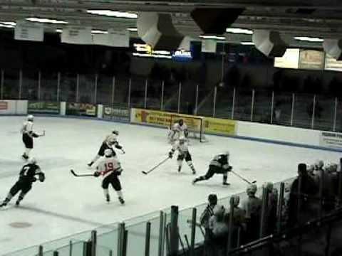 Roseau Rams Aaron Ness Goal against St. Cloud Tech Video