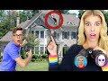 Spying on GAME MASTER STEPHEN SHARER FAM House (Backyard pond reveals new hidden clues & riddles)