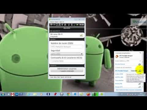 Como Utilizar tu Android como un Router inalambrico y compartir tu Internet de datos.