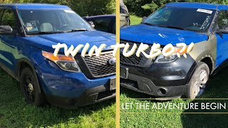 Rebuilding a wrecked Twin-Turbo Police Ford Explorer Interceptor Build