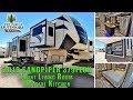 2019 FOREST RIVER SANDPIPER 379FLOK Front Living Room Outside Kitchen Colorado RV Sales Dealer