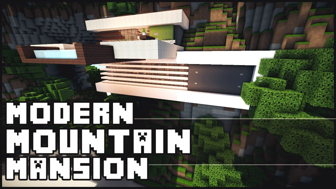 Minecraft modern mountain mansion youtube for Keralis modern house 9 part 1