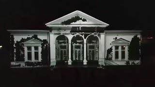The White House; projection of moving 3D objects