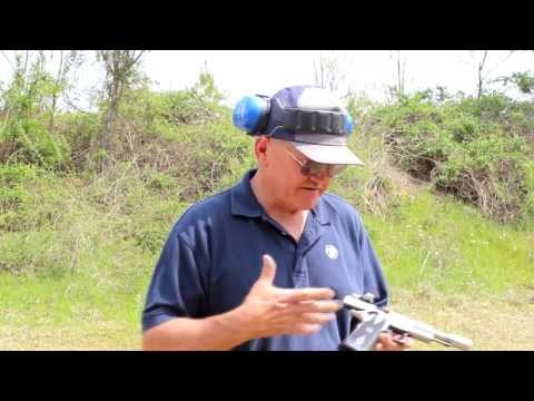 27 rounds in 3.7 seconds with a 1911 pistol with World Record shooter. Jerry Miculek