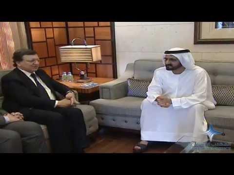 محمد بن راشد يستقبل رئيس المفوضية الأوروبية