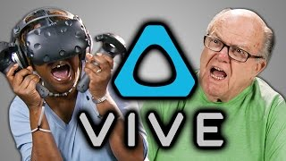 ELDERS REACT TO HTC VIVE (VR)