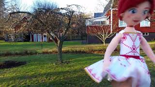 Ballerina leap Felicie plush doll dancing in my garden